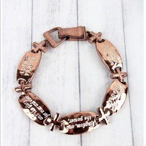 🆕Lord's Prayer Oval & Cross Magnetic Bracelet